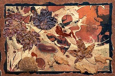 Whirlwind Mixed Media Nature Collage By Nita Leland