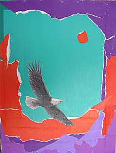 paper collage eagle